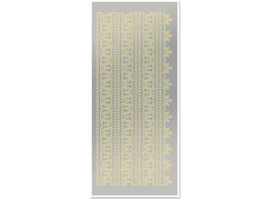 Sticker Klistermærker, topkanterne 1, stor, guld-blad, sølv spejl, størrelse 10x23cm.