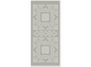 Sticker Pegatinas, esquina grande 1, de color gris plateado, tamaño 10x23cm