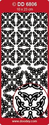 Sticker Ziersticker, angolo ornamento in oro, 10x23cm.