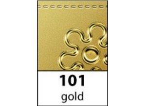 Sticker Ziersticker, hjørne ornament i guld, 10x23cm.