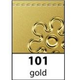 Sticker Marco y esquina barroco, 10x23cm en oro.