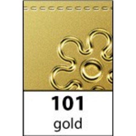 Sticker Rahmen und Ecke Baroque, 10x23cm in gold.