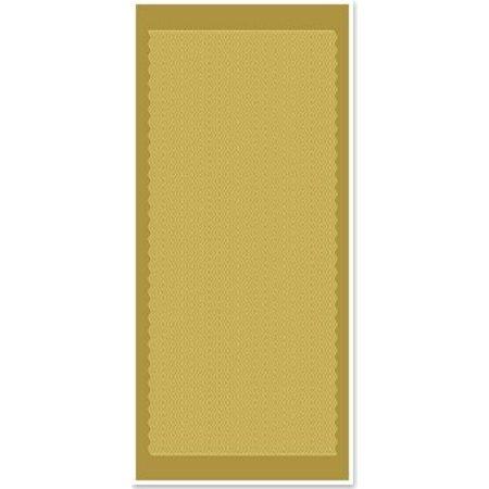 Sticker Ziersticker, bølgede linjer, guld guld, størrelse 10x23cm.