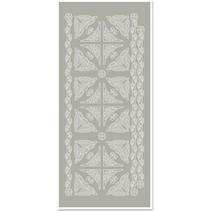 Adhesivos, esquinas y bordes, de color gris plateado, tamaño 10x23cm