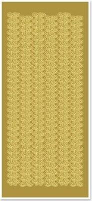 Sticker Klistermærker, Kniplingeborten, brede, guld-guld, str. 10x23cm