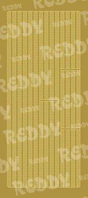 Sticker Klistermærker, grænser, små cirkler, guld-guld, str. 10x23cm