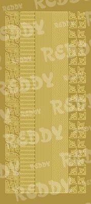 Sticker Klistermærker, kanter og hjørner, små, guld-guld, str. 10x23cm
