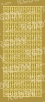 Sticker Klistermærker, bølge kanter, guld-guld, str. 10x23cm