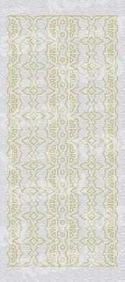 Sticker Stickers, pearl edges m. 1 lace pattern, gold-silver pearl, size 10x23cm