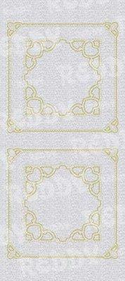 Sticker Klistermærker, mor-of-frame, firkantet w., Guld-sølv-perle, størrelse 10x23cm
