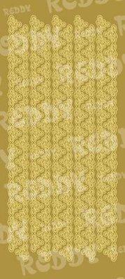 Sticker Klistermærker, trekant kanter, brede, guld-guld, str. 10x23cm