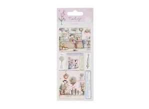 Embellishments / Verzierungen Detailed handmade stickers elements from the Tulip range. 230gr. - Copy
