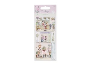 Embellishments / Verzierungen Detaljerede håndlavede stickers elementer fra Tulip rækkevidde. 230gr. - Copy