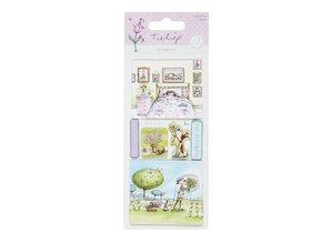 Embellishments / Verzierungen Detailed handmade stickers elements from the Tulip range. 230gr.