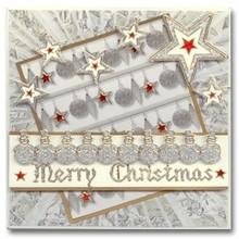 Sticker Glitter Stickers: Glitter silver / gold cute snowmen