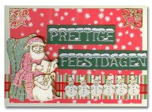 Sticker Glitter Stickers: søde snemænd i sølv / guld