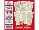 Sticker Set mit 6 Ziersticker, gold