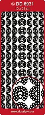 Sticker Adesivo decorativo è il top di pizzo oro