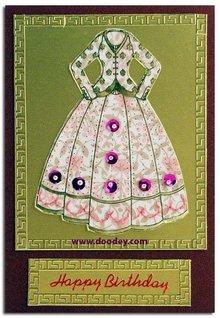 """Sticker Broderi dekorative mærkat, """"mode"""", transp. / Guld,"""