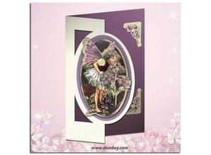 """Sticker Ziersticker, """"Flower Angel"""", transp. / Guld"""