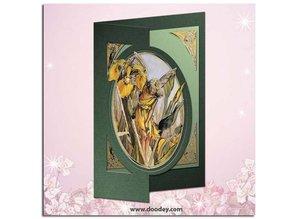 "Sticker Ziersticker, ""Flower Angel"", transp. / Gold"
