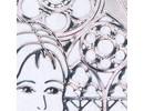 """Sticker Ziersticker """"Communion / bekræftelse, pige,"""" Transp. / Sølv"""