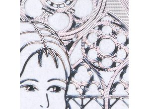 "Sticker Ziersticker, ""Communion / Confirmation, girl,"" Transp. / Silver"