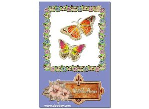 """Sticker Ziersticker, """"sommerfugle"""", transp. / Guld,"""