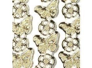 "Sticker Ziersticker, ""butterflies"", transp. / Silver,"