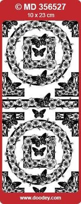"""Sticker Detailed, embossed, decorative stickers, """"butterflies"""", transp. / Silver"""