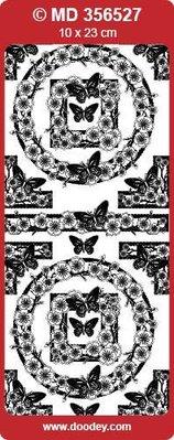 """Sticker Detaljerede, prægede, dekorative klistermærker, """"sommerfugle"""", transp. / Sølv"""