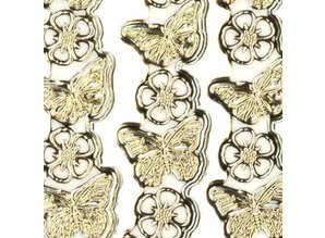 "Sticker Ziersticker, ""butterflies"", gold / gold"