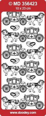 Sticker Detailliert, geprägte, Ziersticker für Hochzeit, Farbe silber/silber