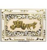 Sticker Dekorative klistermærker til bryllup, farve transparent / guld