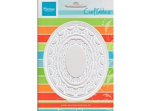 Marianne Design Stamping and embossing stencil Passe-partout oval