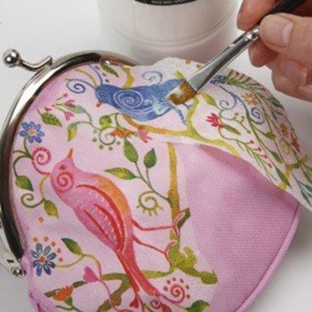 Objekten zum Dekorieren / objects for decorating Grobgewebtes Polyester, weiß - mit Bügelverschluss