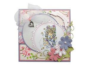 Marianne Design Marianne Design, round, flower and embroidery, CR1248