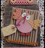 DESIGNER BLÖCKE  / DESIGNER PAPER Eline's summer owls 2