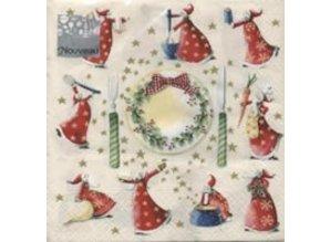 DECOUPAGE AND ACCESSOIRES 5 napkins - 33 x 33 cm, Christmas