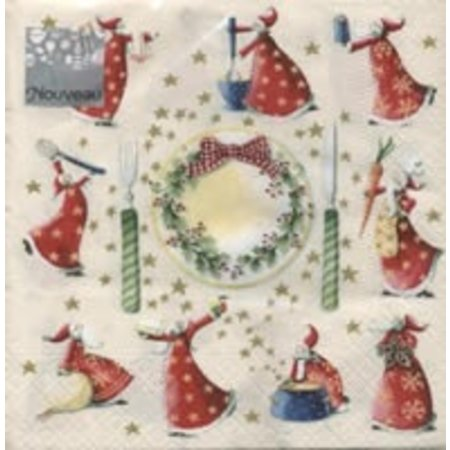 DECOUPAGE AND ACCESSOIRES 5 Servietten - 33 x 33 cm, Weihnachten