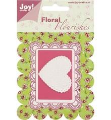 Joy!Crafts und JM Creation Skæring og prægning stencil hjerte.