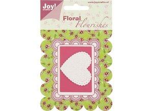 Joy!Crafts und JM Creation Joy Crafts, skæring og prægning stencil hjerte.