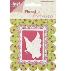 Joy!Crafts und JM Creation Skæring og prægning Stencil Butterfly.