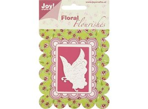 Joy!Crafts und JM Creation Joy Crafts, skæring og prægning stencil sommerfugl.