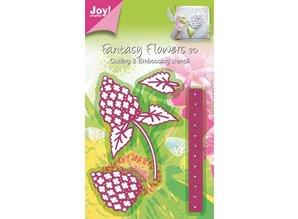 Joy!Crafts und JM Creation Joy Crafts, skæring og prægning stencil Mery stencil blomst, bygning