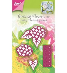 Joy!Crafts und JM Creation Cutting and embossing stencil Mery stencil flower structure.