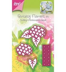 Joy!Crafts und JM Creation Taglio e goffratura stencil Mery struttura stencil fiore.