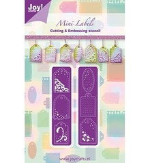 Joy!Crafts und JM Creation Cutting and embossing stencil mini labels, 2 x 20x82 mm