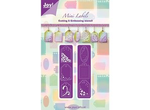 Joy!Crafts und JM Creation Joy Crafts, skæring og prægning stencil mini etiketter, 2 x 20x82 mm