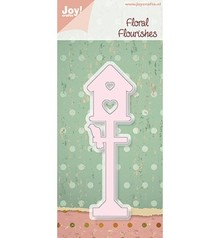 Joy!Crafts und JM Creation Cutting and embossing stencil Birdhouse